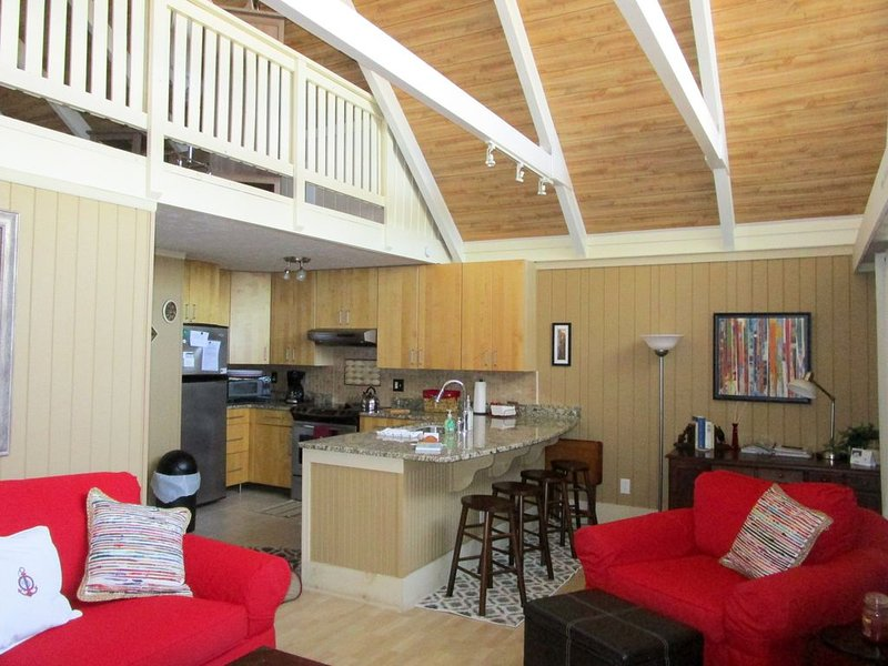 Open, floor plan with bright natural light.