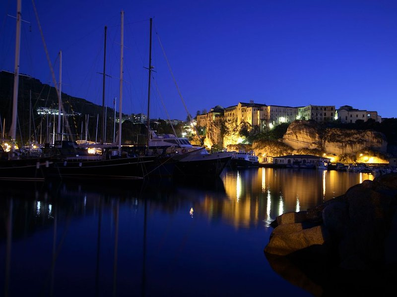 The port of Tropea - Night View