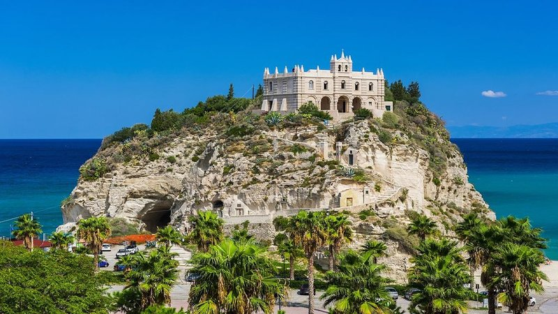 "Tropea - This small monastery in Tropea marina called ""islet"""