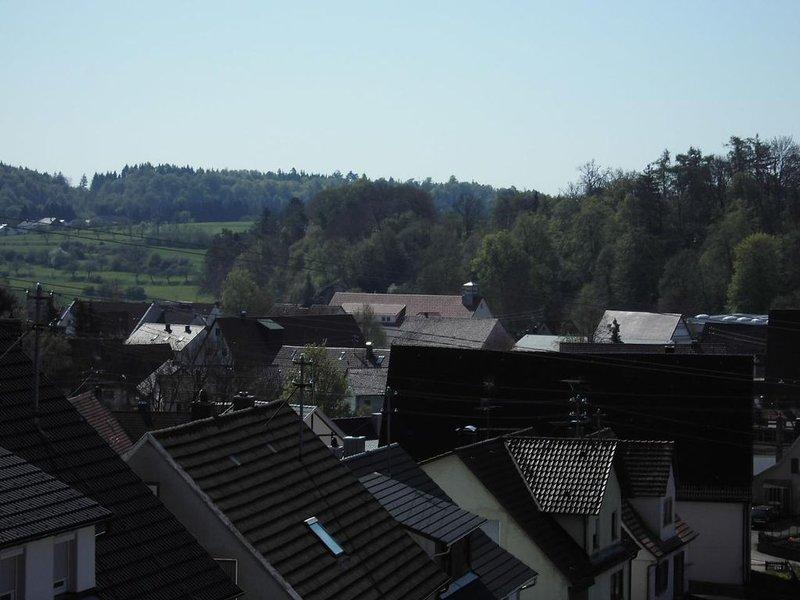 Balkon Blick von außen