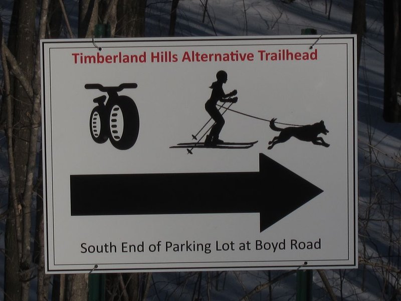 New loop at Timberland Hills ski area is for ski-joring and fat tire bikers.