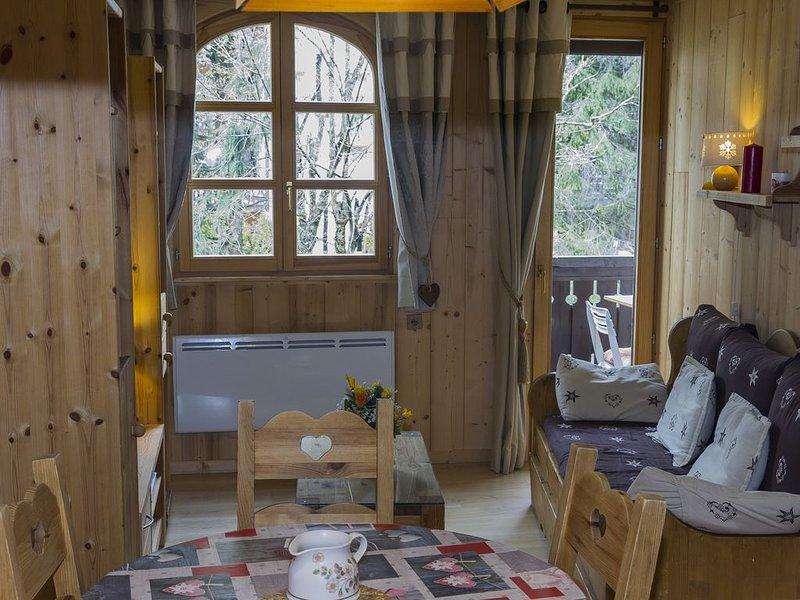 Appartement 32m² entièrement refait style montagne, face brevent ,, casa vacanza a Chamonix