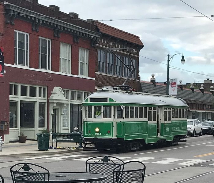 Trolleys are a great way to get around downtown.