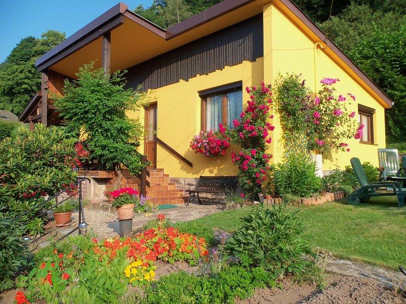 Location gite 'aux oiseaux' petit chalet très fleuri, Ferienwohnung in Haut-Rhin
