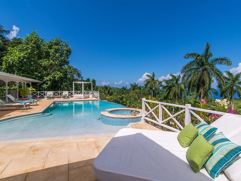 Allamanda Villa - fully staffed - ROUND HILL membership - van & driver - nanny, holiday rental in Jamaica