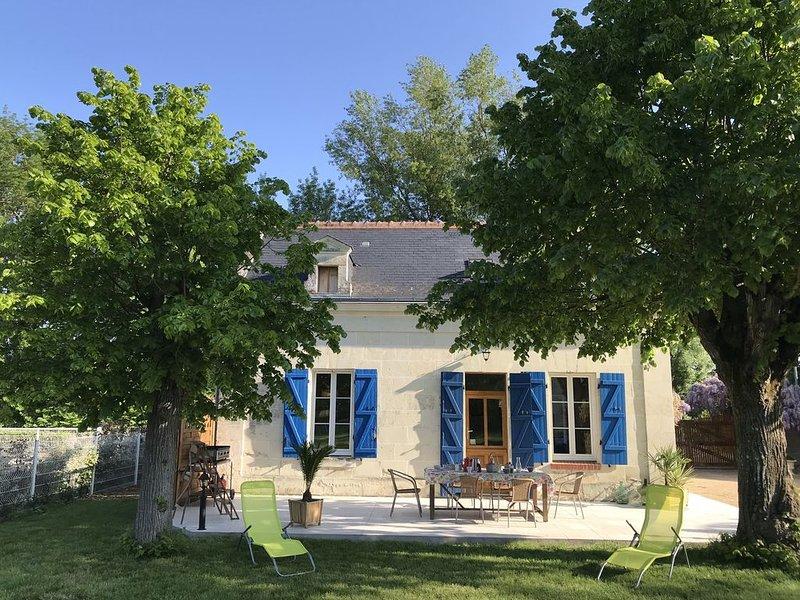 Lile-bellule, au coeur de la Nature, de la Rivière et des Châteaux de la Loire, location de vacances à Indre-et-Loire