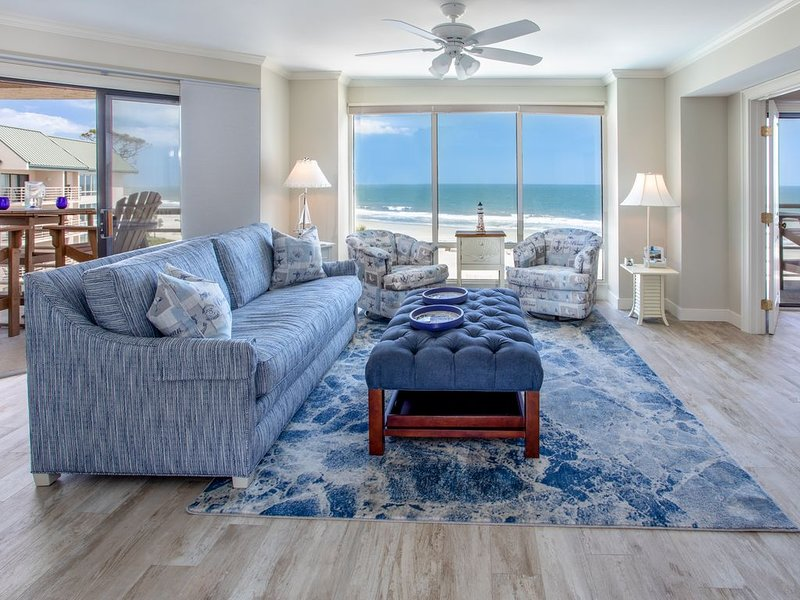Luxury Oceanfront Penthouse 2018 Total Remodel Done! Breathtaking Views!, holiday rental in Hilton Head