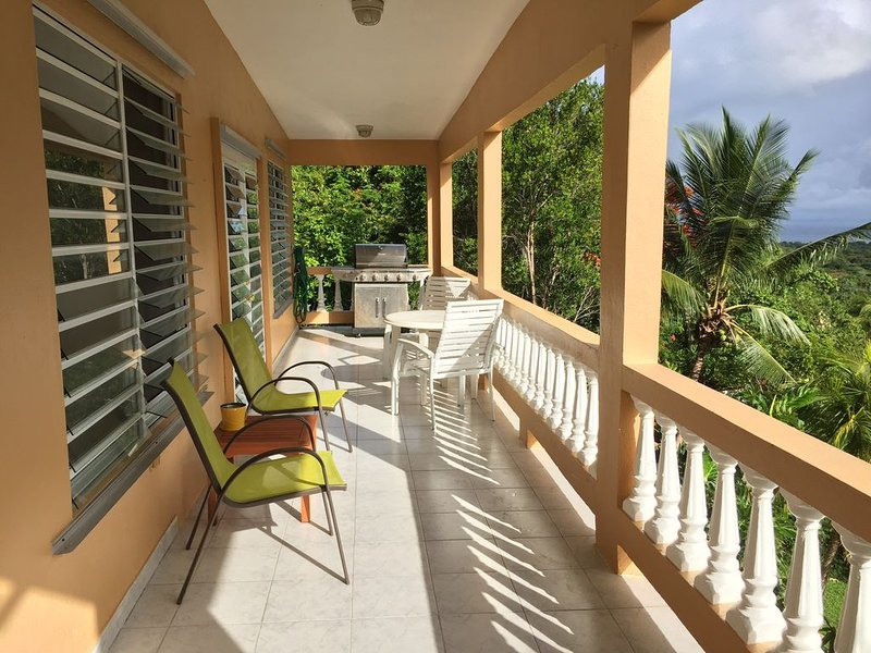 Spacious Hillside House w/Panoramic Ocean Views! (Sat~TV~, WiFi, ~A/C~, W/D), vacation rental in Isla de Vieques