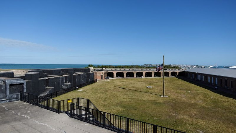 A fort to explore at Fort Zachary Taylor State Park.