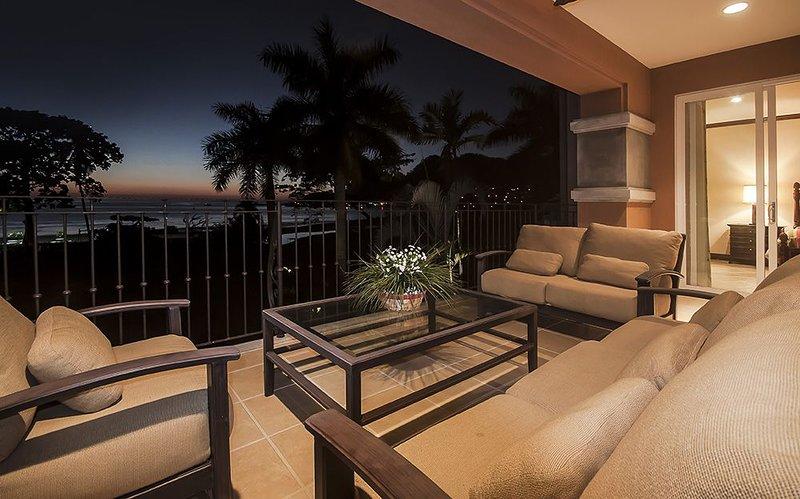 impresionantes vistas forman la terraza.