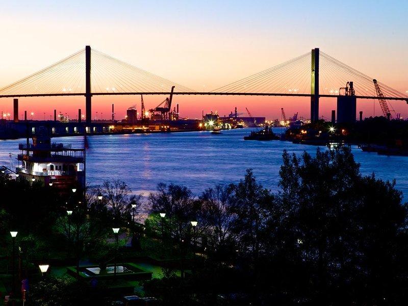 Sunset on Savannah River