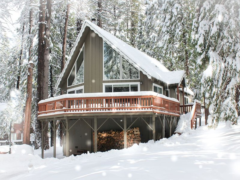 Cozy Cabin in the Pines! Loft, Private Court/Blue Lake Springs access! Wifi, alquiler de vacaciones en Arnold
