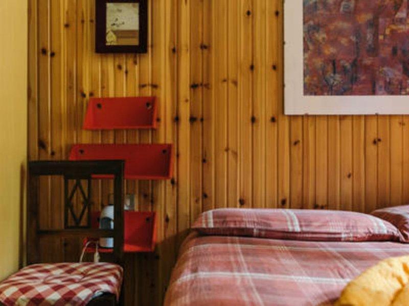 CENTRALE MANSARDA IN LEGNO CON VISTA SUL BOSCO!, vakantiewoning in Carisolo