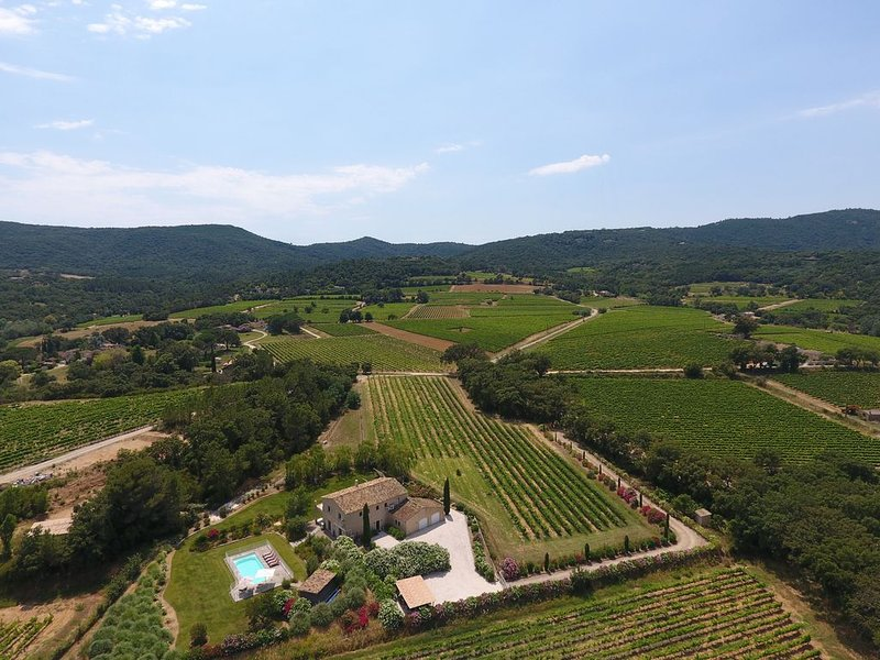 Beautiful provencal villa surrounded by vignes close to St Tropez Heated pool AC, vacation rental in Cogolin