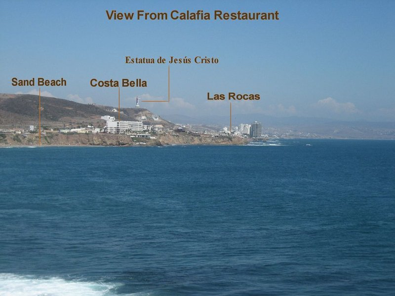 View from Calafia Hotel Restaurant