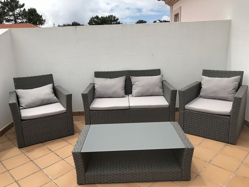 New furniture on upstairs terrace