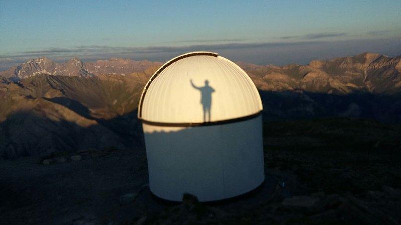 Sunrise on the observatory.