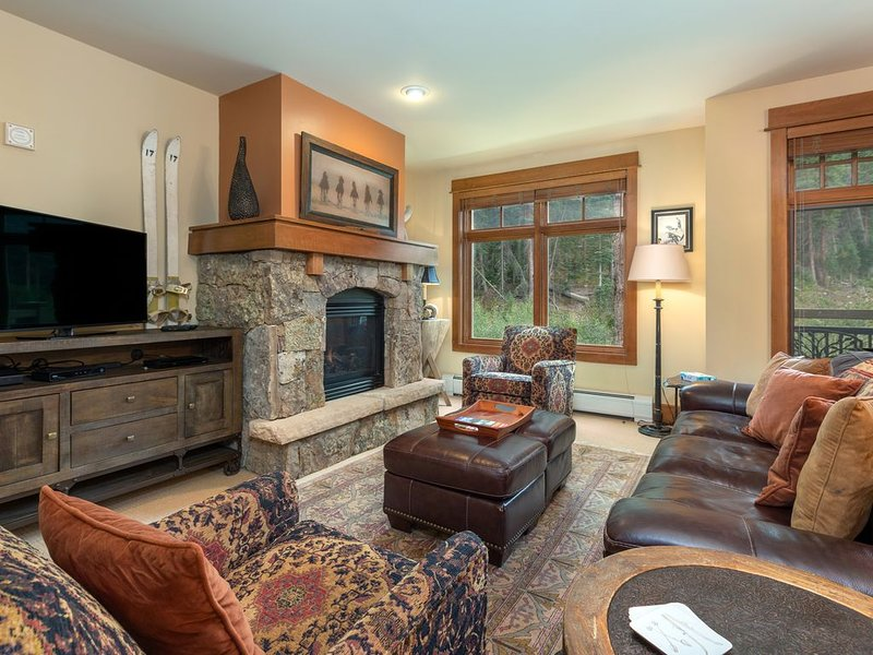 Ski-In/Ski-Out, High-end 2-Bedroom Condo, Gourmet Kitchen, Private Laundry, holiday rental in Keystone