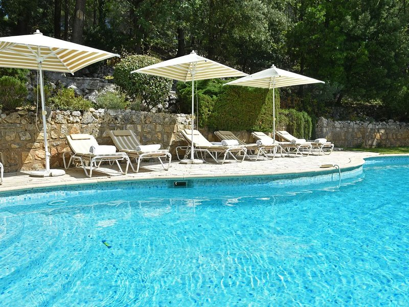 Magnificent estate with guest rooms, large heated swimming pool and tennis cour, aluguéis de temporada em Chateaudouble