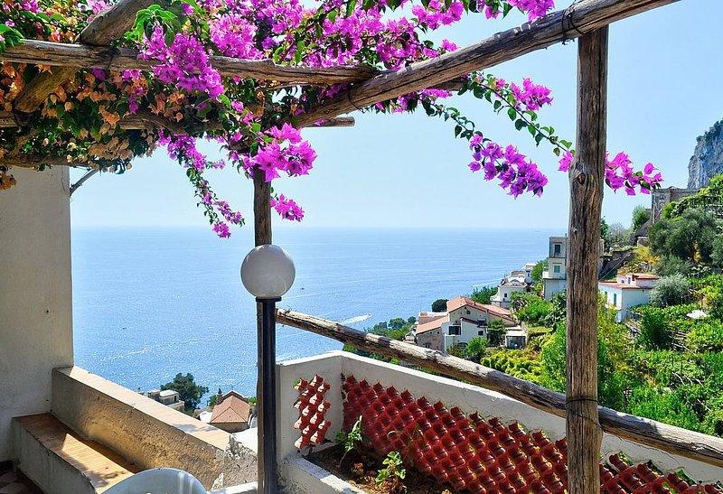 Villa Marcella: Una caratteristica e accogliente casa indipendente situata su un, alquiler de vacaciones en Amalfi