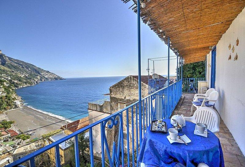 Casa Edda, rimborso completo con voucher*: Un caratteristico e accogliente appar, vacation rental in Positano