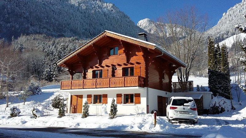 Luxury Chalet - Fireplace - WiFi - Sunny Terrace - Portes du Soleil, holiday rental in Vacheresse