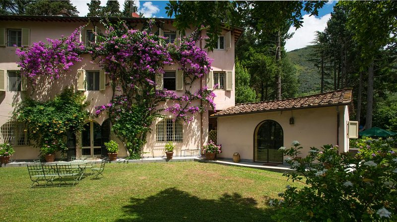 Secluded villa  in luxurious private estate.  Salt water heated  15metre  pool, vacation rental in Camaiore