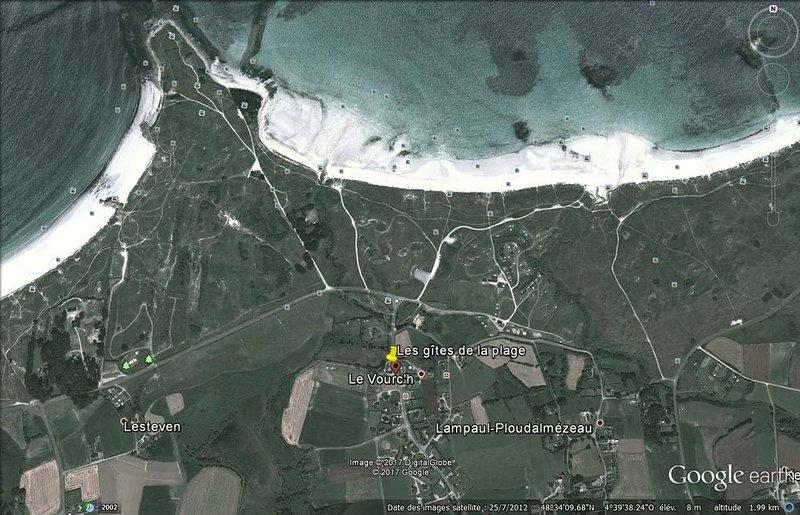 gîte 6 personnes ,3 chambres ,  à 250 m de la plage , Brest à 25 min, holiday rental in Ploudalmezeau