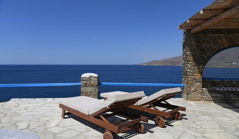Villa Akrivi is a spacious newly renovated, sea front property, 5 bedroom 4 bath, holiday rental in Tinos