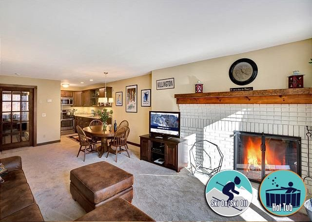 Ski on/ski off right from your door nicely decorated 2 bedroom, Sunrise L3, location de vacances à Killington