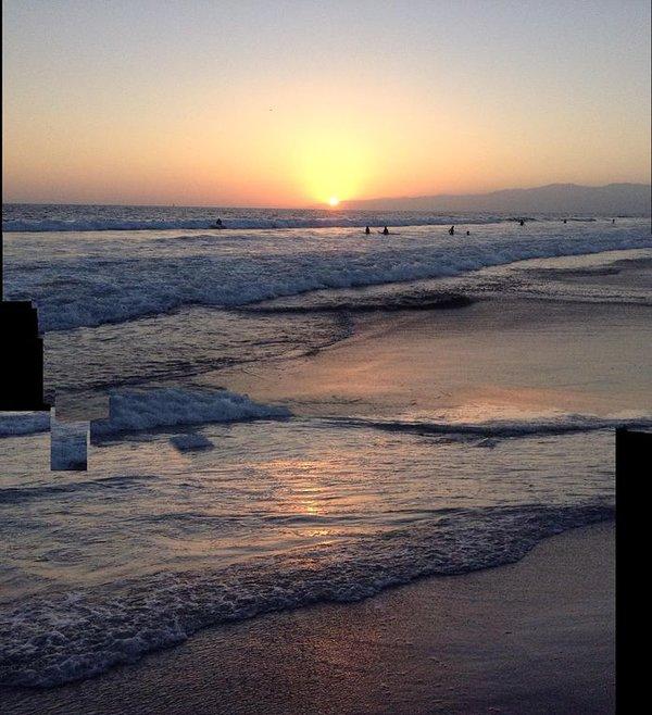 Coucher de soleil à Venice Beach