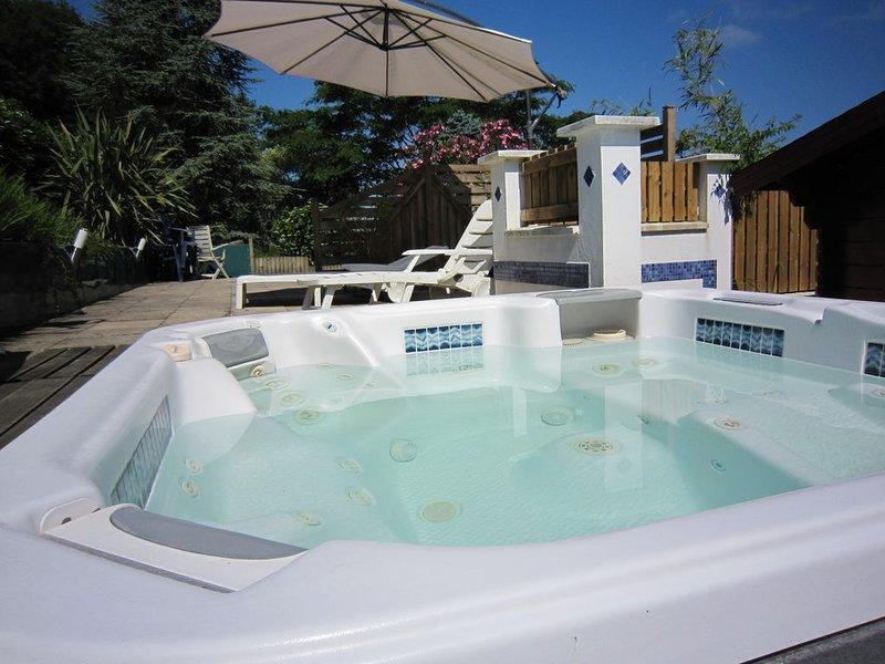 Apartment 15 km from the beach, jacuzzi, sauna, sleeps 5, fully equi, location de vacances à Pyrenees-Atlantiques
