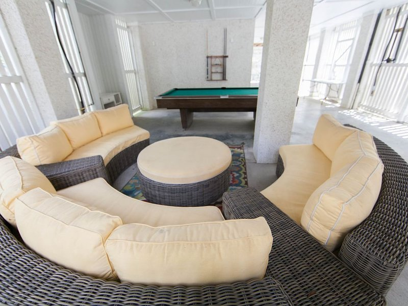 Talk about relaxing on your vacation! So much seating will definitely revive you!