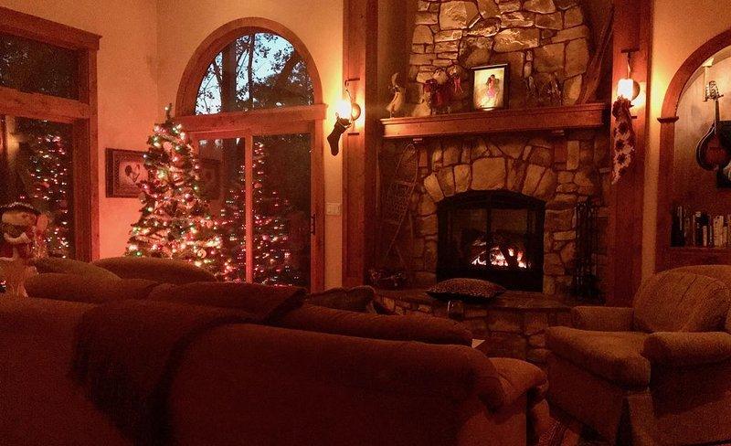Un hogar cálido para las vacaciones.