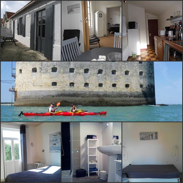 A 200m de la mer, villa ST ANTOINE  Fouras idéale 2 adultes avec enfants, wifi, location de vacances à Fouras