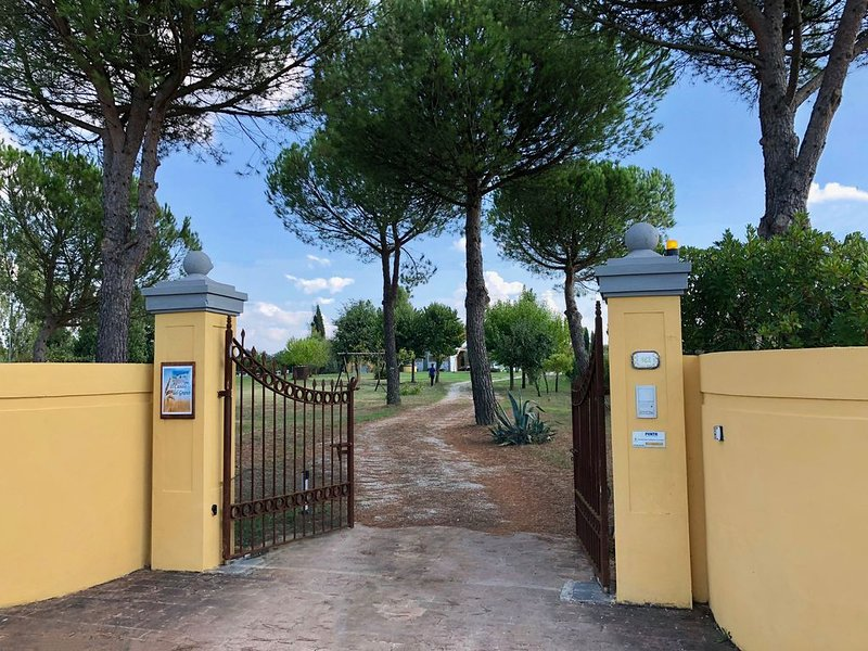 Charming Farmhouse in a Tuscan landscape at walking distance from a village, holiday rental in Orentano
