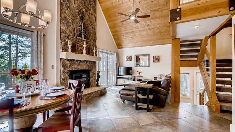 Small Dog friendly w/ fenced yard, slope views, 5 min drive to town, and Hot Tub, vacation rental in Breckenridge