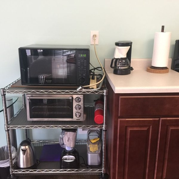 Microwave. Toaster Oven. Blender. Popcorn Popper. Hot Pot. Coffee Pot.