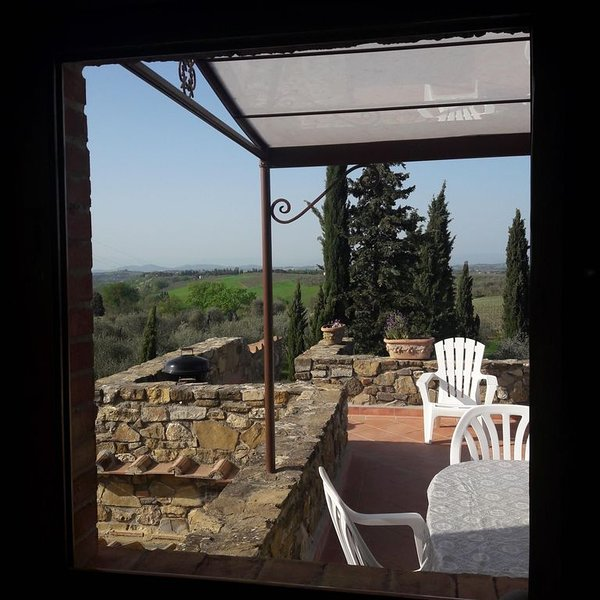 Panoramic villa on the hills  ( portion of a villa with other 5 units ), holiday rental in Tavarnelle Val di Pesa