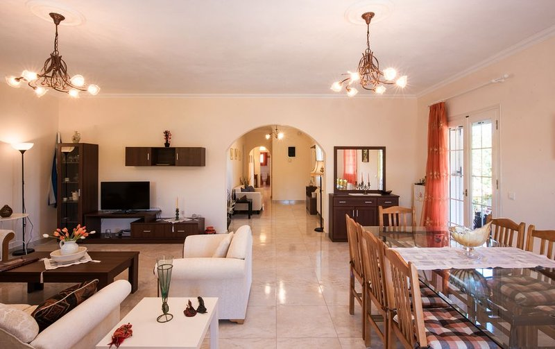 Cool & Quiet 8-person apartment with garden, holiday rental in Evropouli