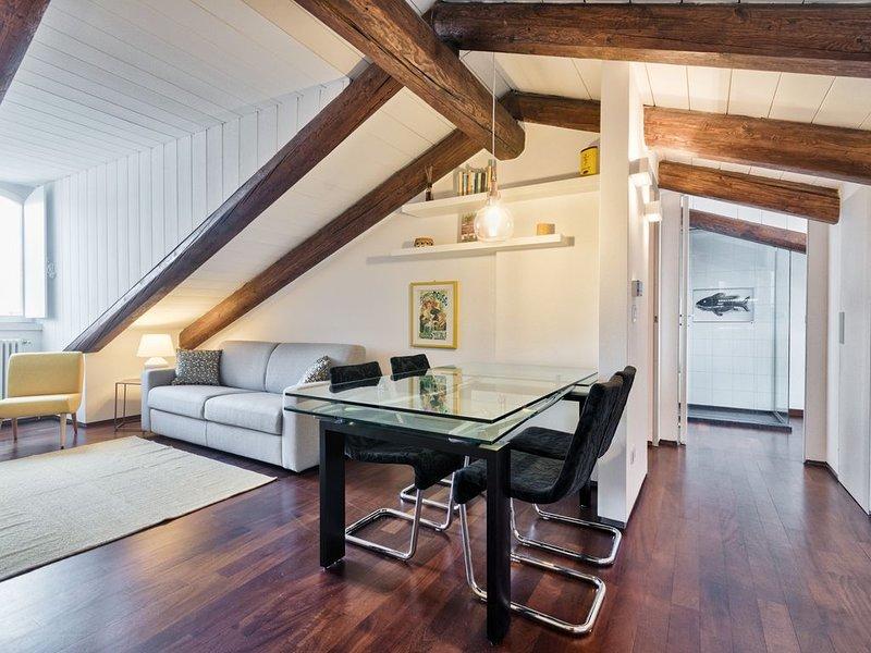 Appartamento mansardato panoramico. Parcheggio Auto Privato, wifi, holiday rental in Villar Pellice