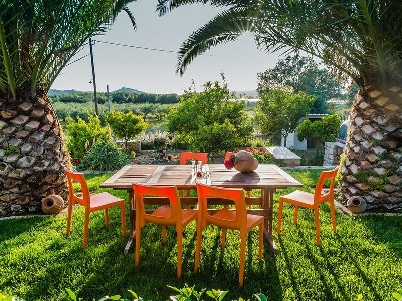 Aloni Home,family holiday,relaxing and quiet place,private parking,garden, holiday rental in Zaros