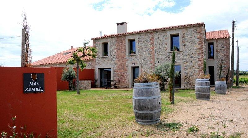 Mas traditionnel  de caractère au coeur  d'un vignoble  avec  vue panoramique., holiday rental in Ortaffa