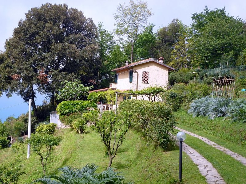 Rustico in panoramischer Lage, Terrasse mit Meerblick., casa vacanza a Valdicastello Carducci