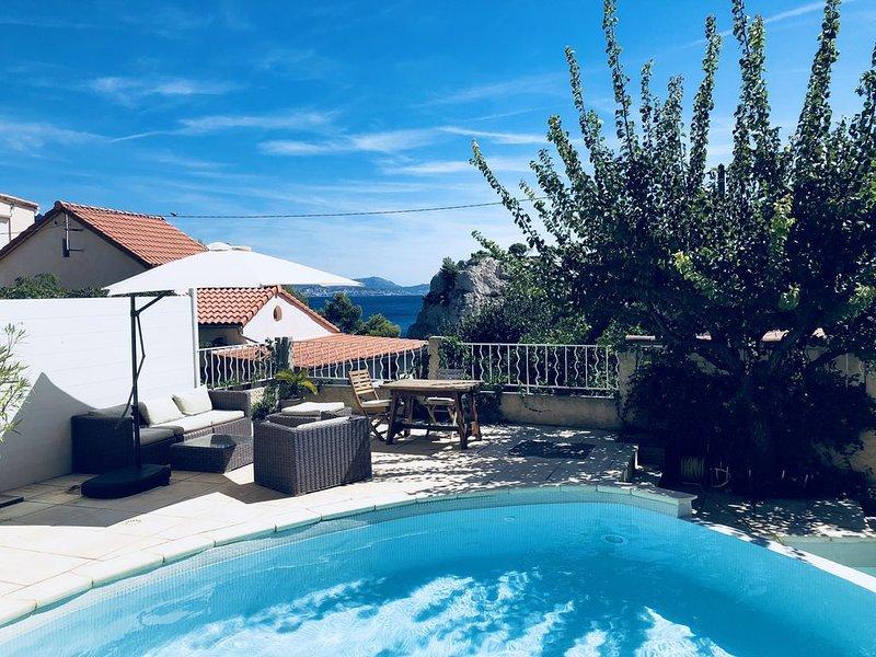 Calanque de Niolon : Loft piscine vue mer, holiday rental in Gignac-la-Nerthe