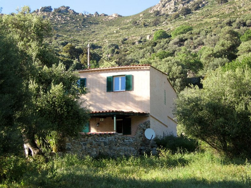 Maison individuelle entre mer et montagne, location de vacances à Zilia