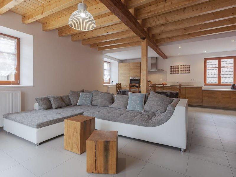 DUPLEX Denis calme, grande TERRASSE, 2SDB, 2 WC, chez le vingeron 6km COLMAR, holiday rental in Trois-Epis