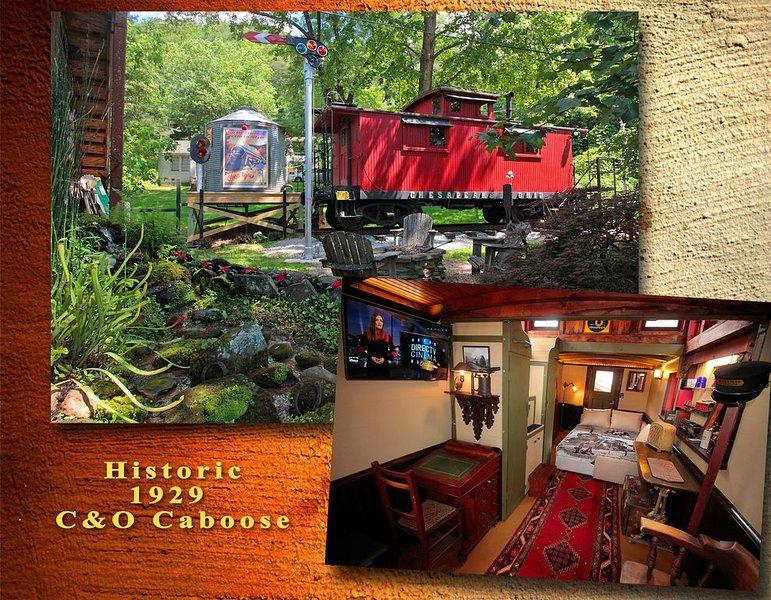 Historic Fully Restored 1929 Caboose in Beautiful North Georgia Mountains, alquiler de vacaciones en Tiger