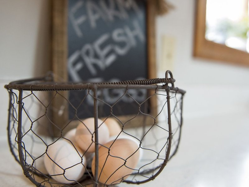 Every guest is provided a basket of farm fresh eggs