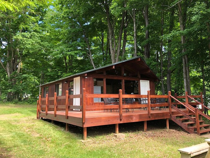 Cute Cedar Cabin on The Great Sacandaga Lake, holiday rental in Northville